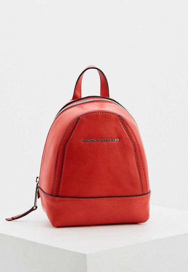 женский рюкзак piquadro, красный