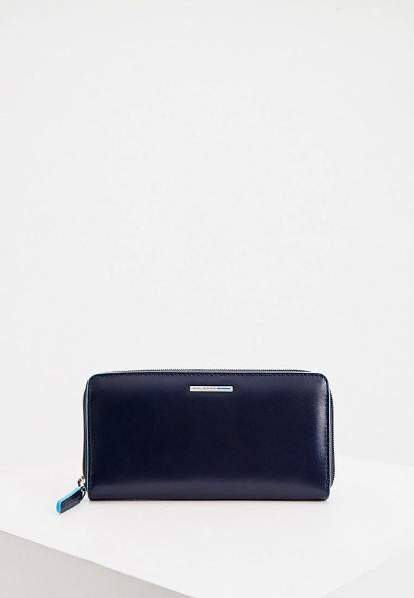 женский кошелёк piquadro, синий