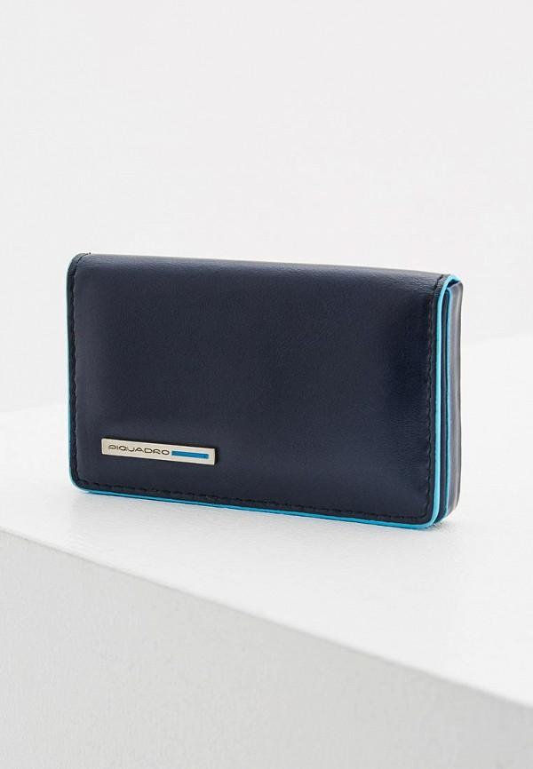 Купить Визитница Piquadro, BLUE SQUARE, pi016dmzpa19, синий, Осень-зима 2018/2019