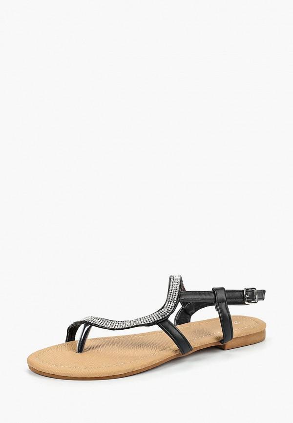 женские сандалии piazza italia, черные