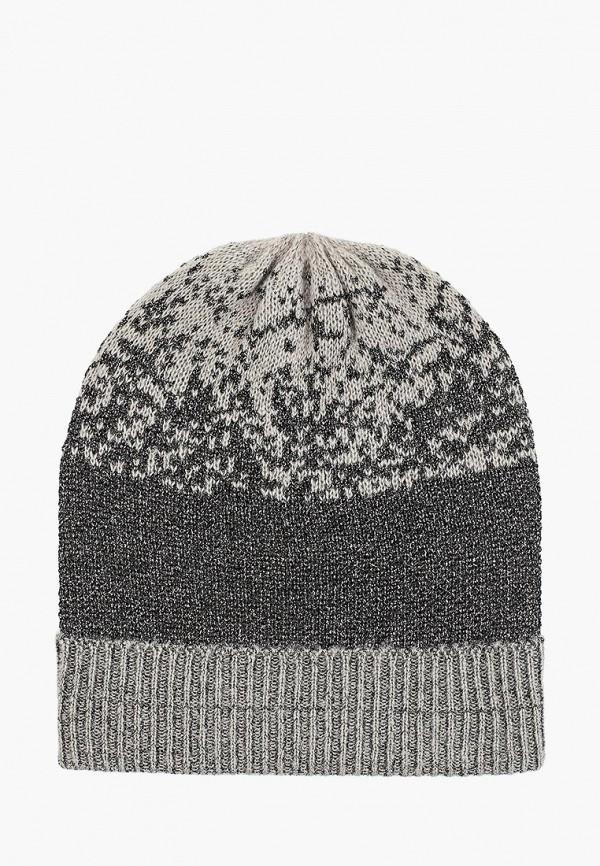 женская шапка piazza italia, серая