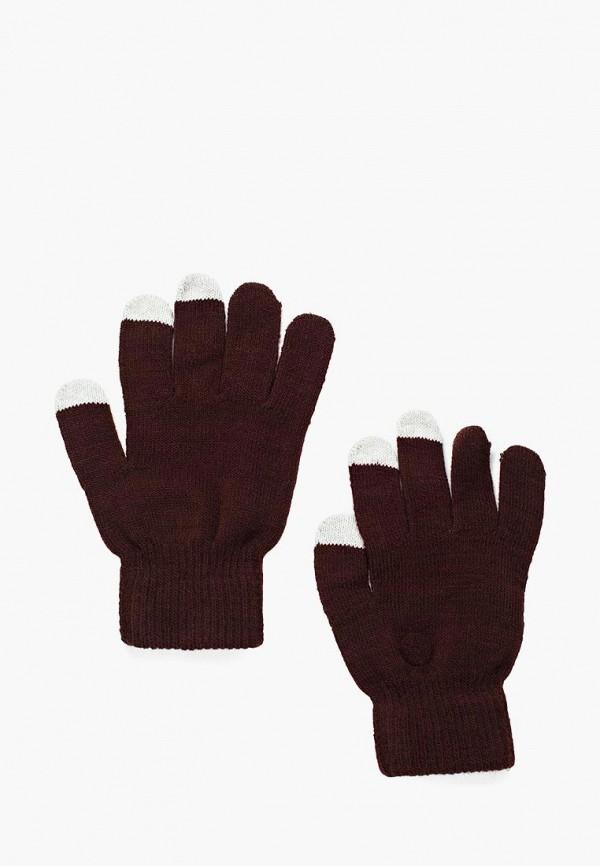 Фото - мужские текстильные перчатки Piazza Italia коричневого цвета