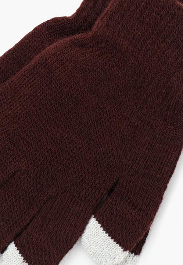 Фото 2 - мужские текстильные перчатки Piazza Italia коричневого цвета