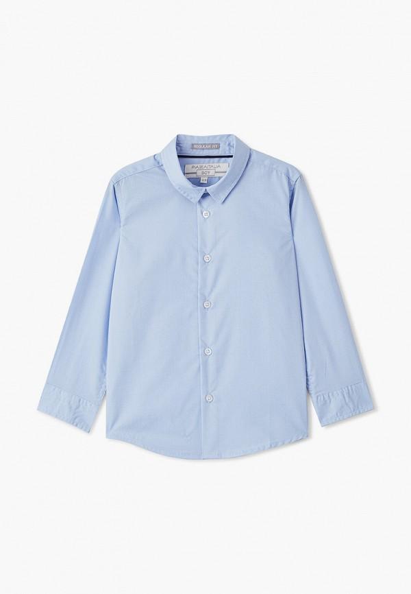 рубашка piazza italia для мальчика, голубая