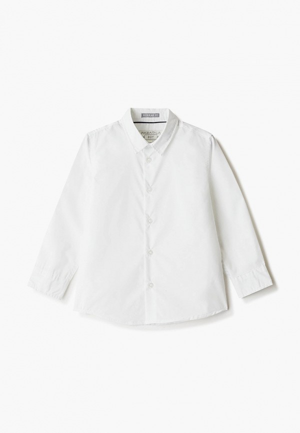 рубашка piazza italia для мальчика, белая