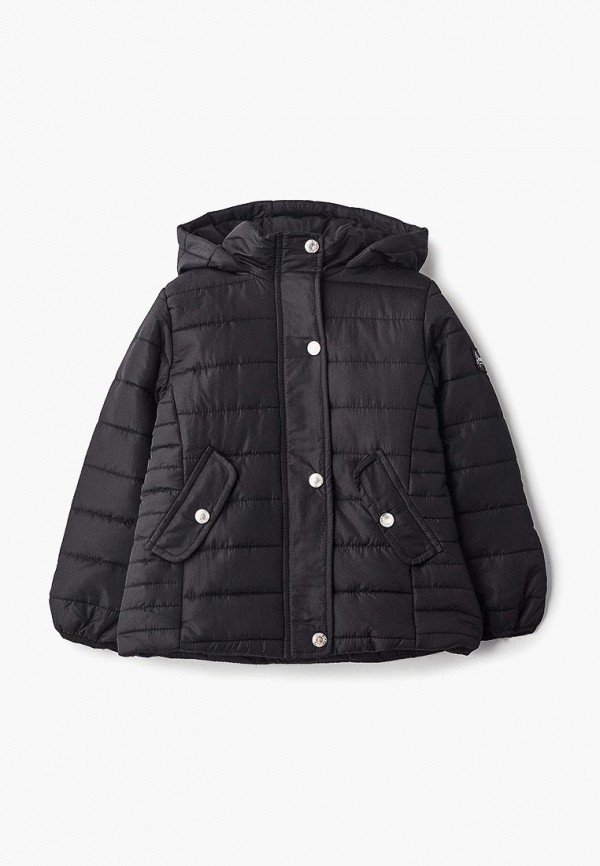 куртка piazza italia для девочки, черная