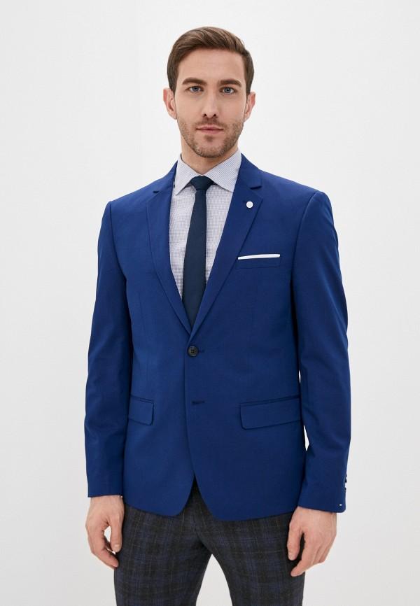 мужской пиджак piazza italia, синий