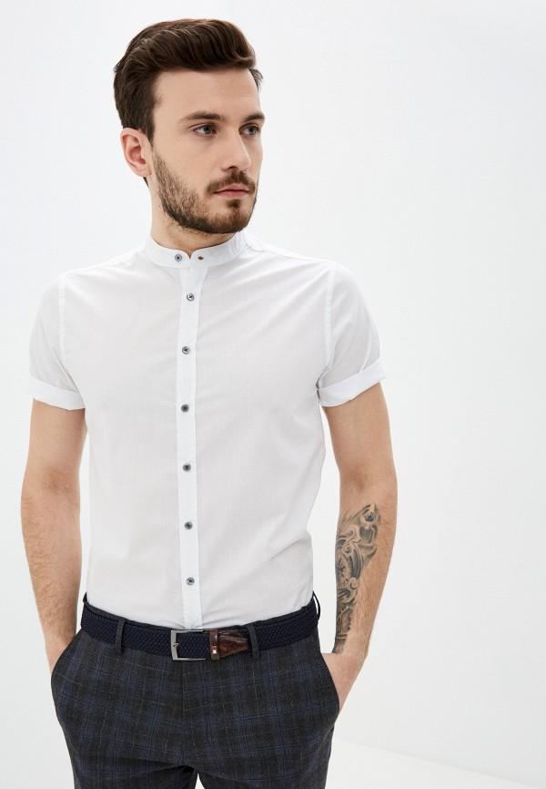мужская рубашка с коротким рукавом piazza italia, белая