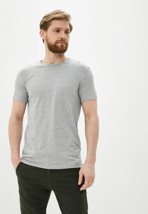 мужская футболка с коротким рукавом piazza italia, серая
