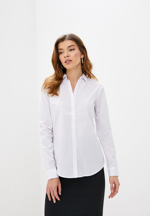 женская рубашка с длинным рукавом piazza italia, белая