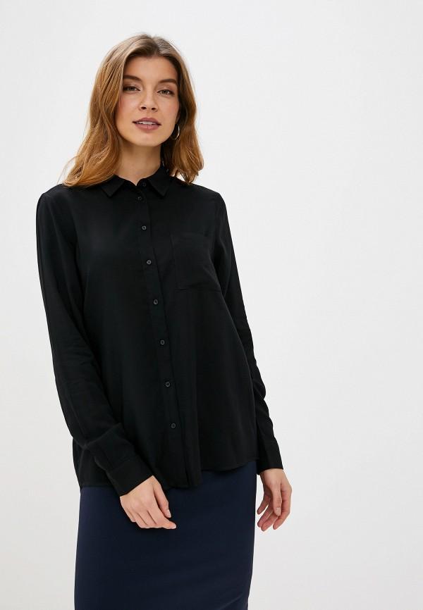 женская блузка с длинным рукавом piazza italia, черная