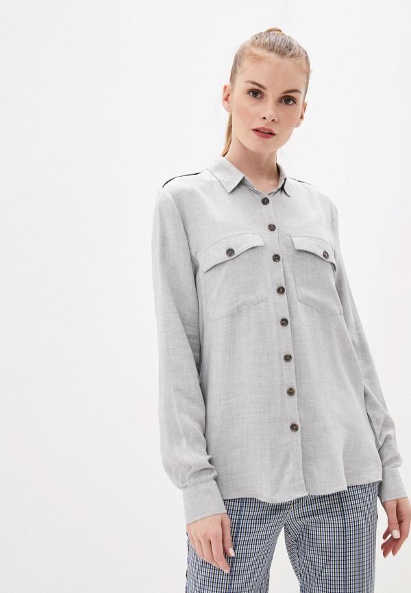 женская блузка с длинным рукавом piazza italia, серая