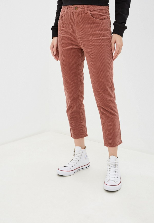 женские повседневные брюки piazza italia, розовые