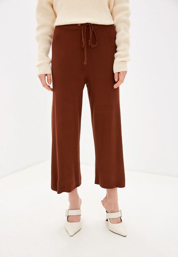 женские повседневные брюки piazza italia, коричневые