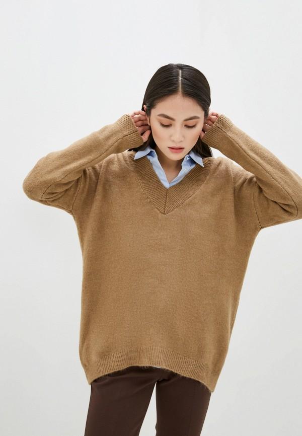 женский пуловер piazza italia, бежевый