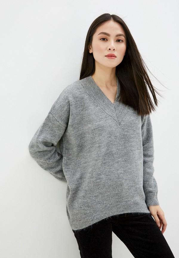 женский пуловер piazza italia, серый