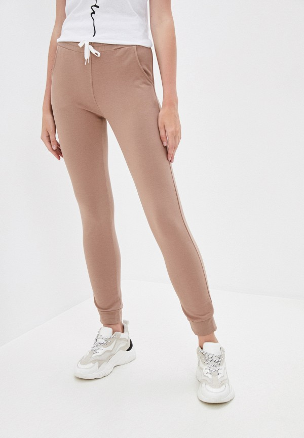женские спортивные брюки pink frost, бежевые