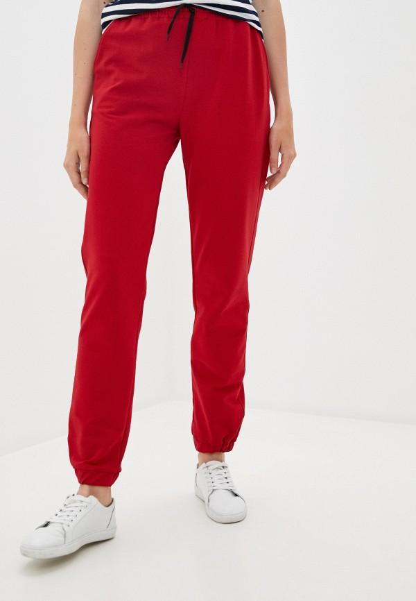 женские брюки pink frost, красные