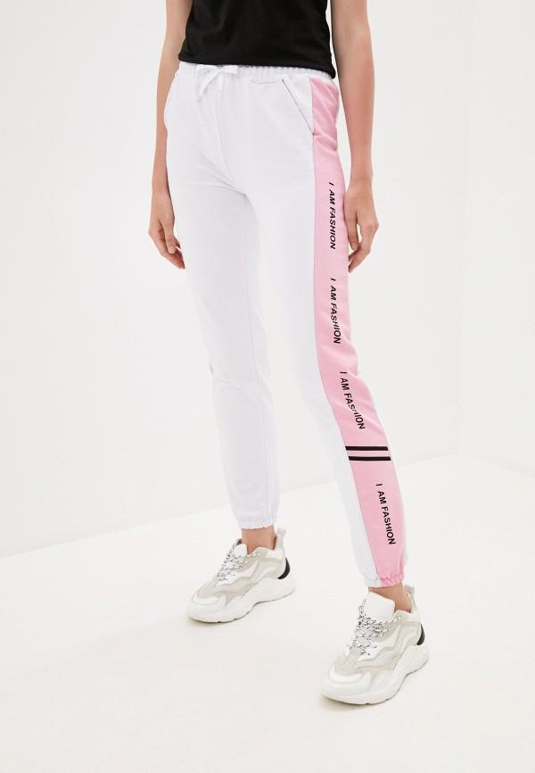 женские спортивные брюки pink frost, белые