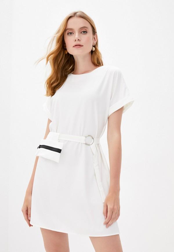 женское повседневные платье pink frost, белое