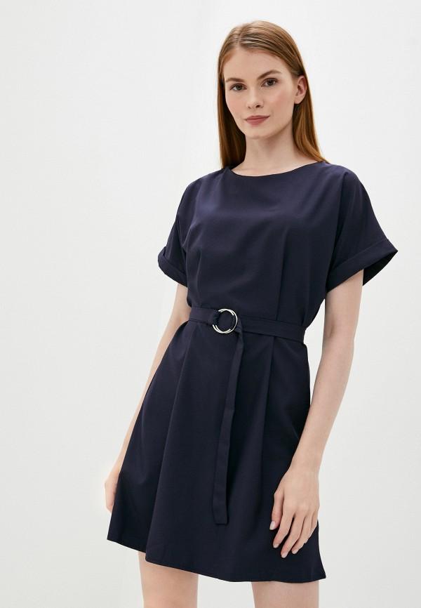 женское повседневные платье pink frost, синее