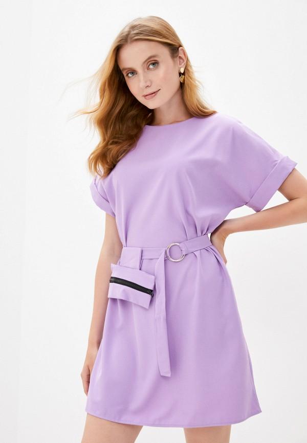 женское повседневные платье pink frost, фиолетовое