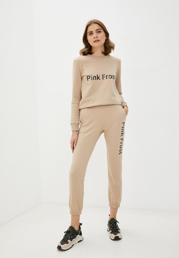 женский спортивный костюм pink frost, бежевый