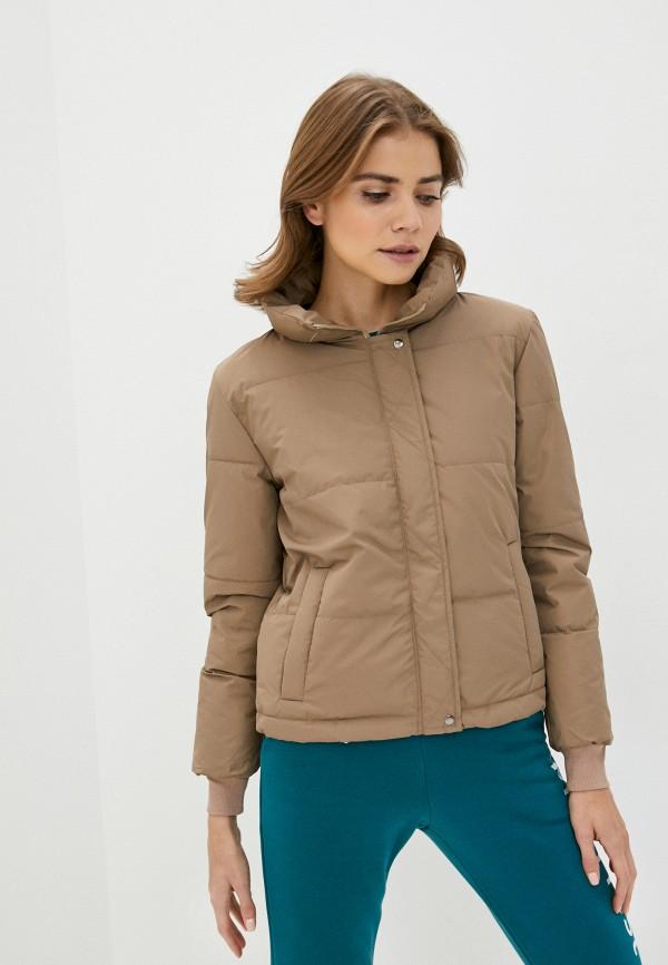 женская куртка pink frost, коричневая