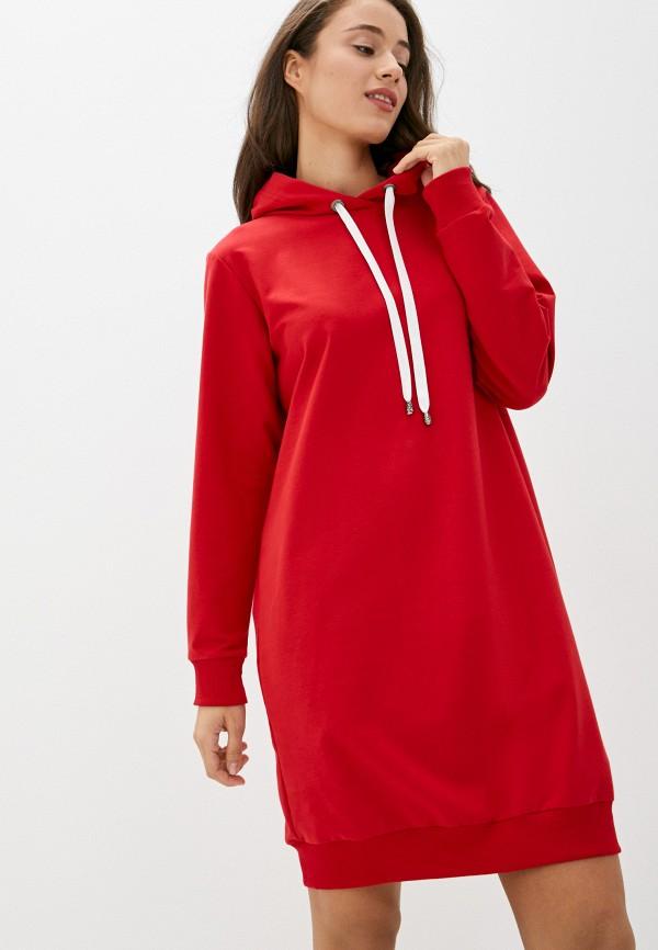 женское платье pink frost, красное