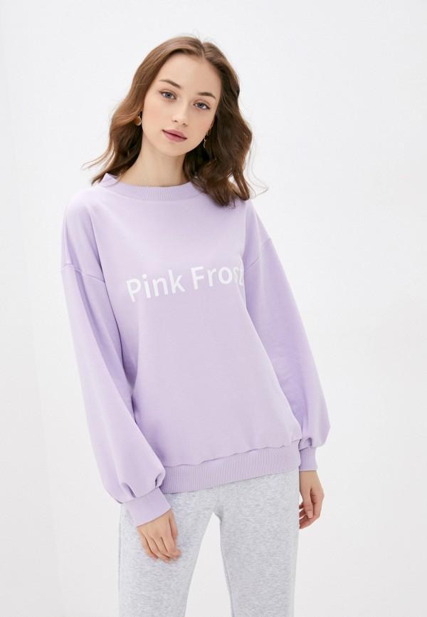 женский свитшот pink frost, фиолетовый