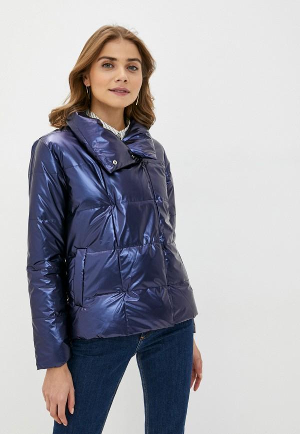 женская куртка pink frost, синяя