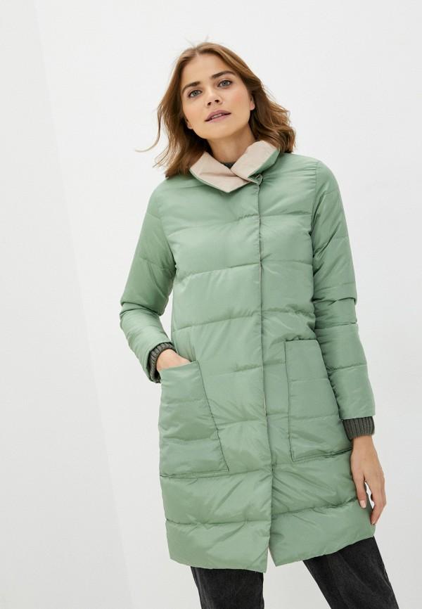 женская куртка pink frost, зеленая