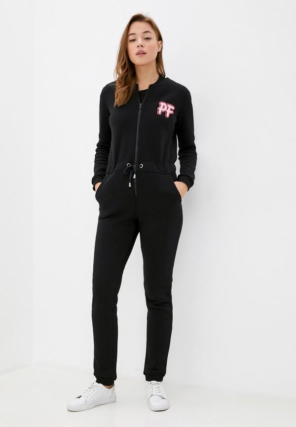 женский спортивные комбинезон pink frost, черный