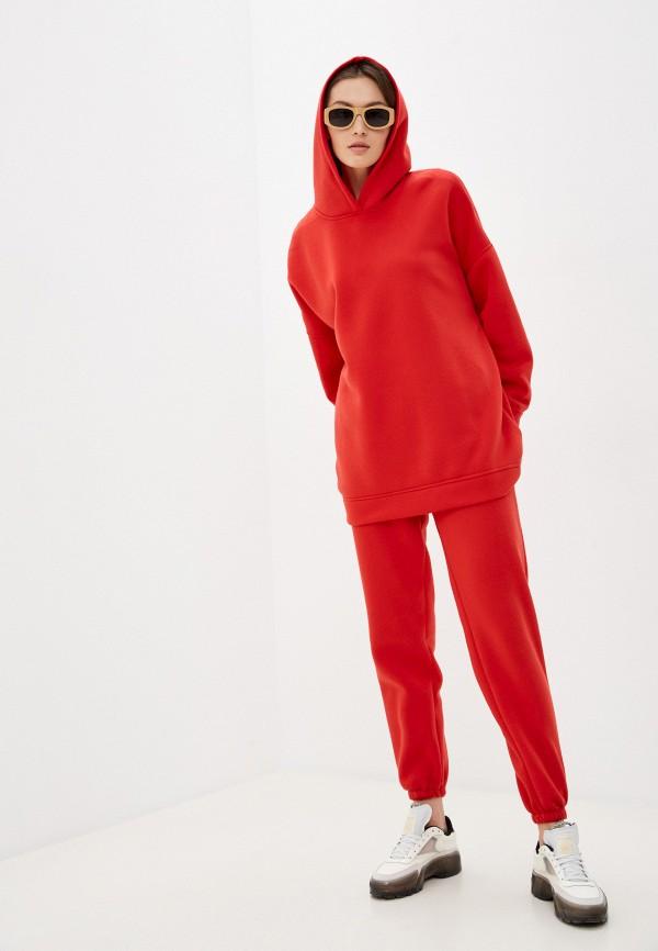 женский спортивный костюм pink frost, красный
