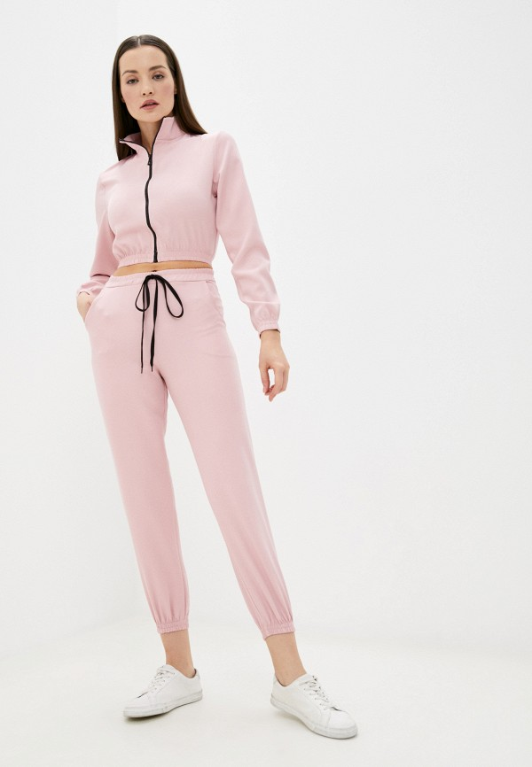 женский спортивный костюм pink frost, розовый