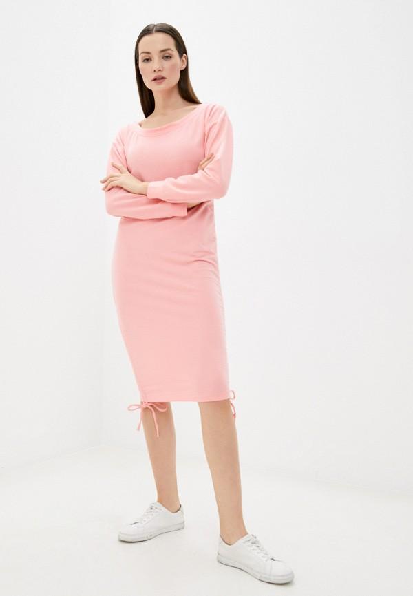 женское повседневные платье pink frost, розовое