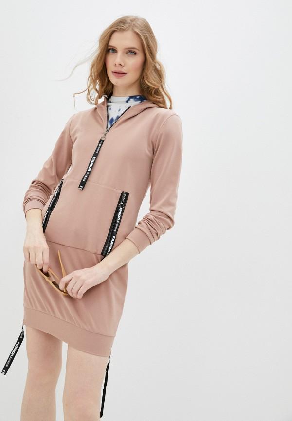 женское платье pink frost, розовое