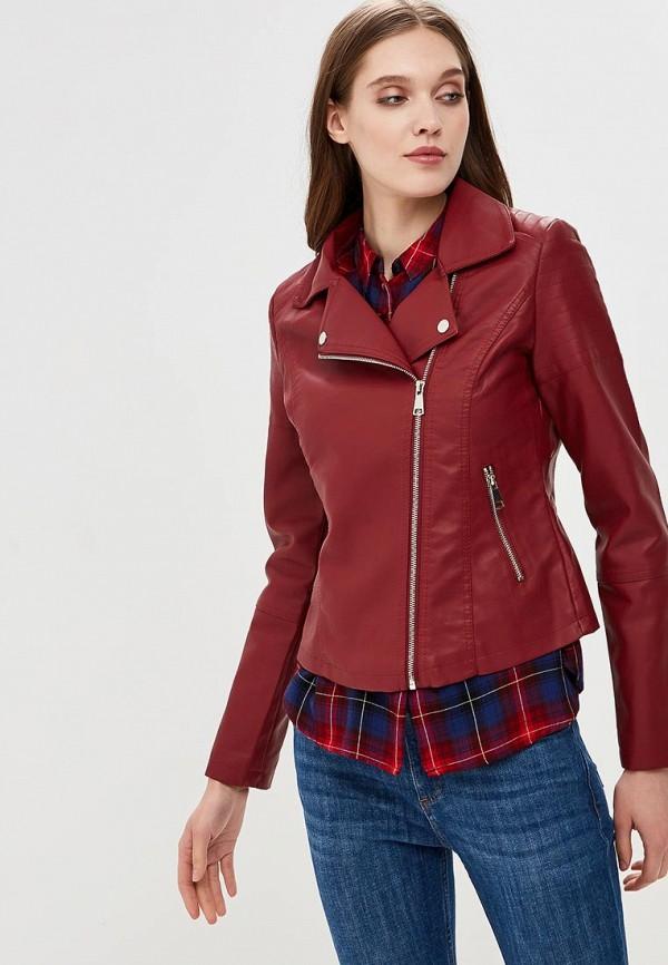 Купить Куртка кожаная Pink Woman, pi026ewameo8, бордовый, Весна-лето 2018