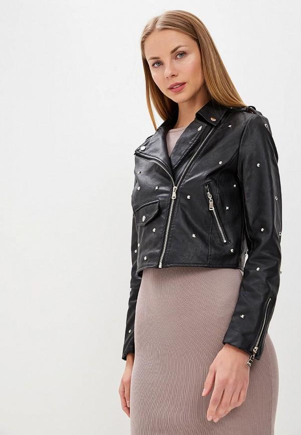 Купить Куртка кожаная Pink Woman, PI026EWAMEP0, черный, Весна-лето 2018