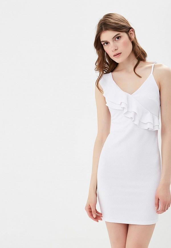 женское платье pink woman, белое