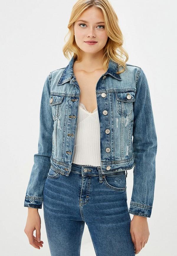 Купить Куртка джинсовая Pink Woman, PI026EWCGVG4, синий, Осень-зима 2018/2019
