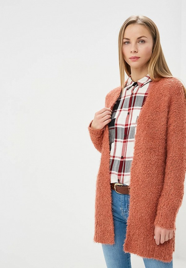 Купить Кардиган Pink Woman, pi026ewdcfo1, коралловый, Осень-зима 2018/2019