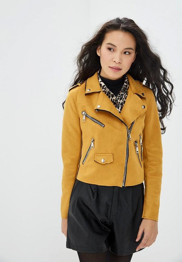 Купить Куртка кожаная Pink Woman, pi026ewdcfq1, желтый, Осень-зима 2018/2019