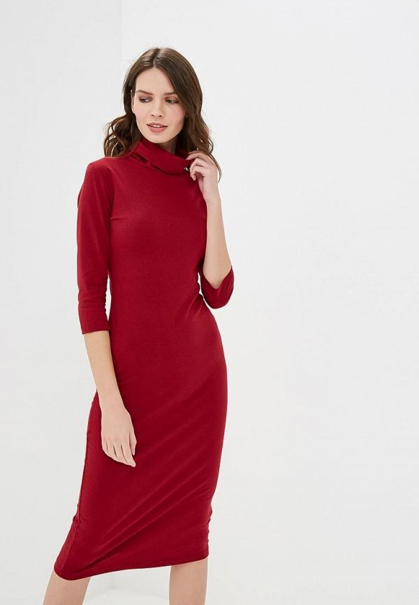 Купить Платье Pink Woman, pi026ewdcfq7, бордовый, Осень-зима 2018/2019