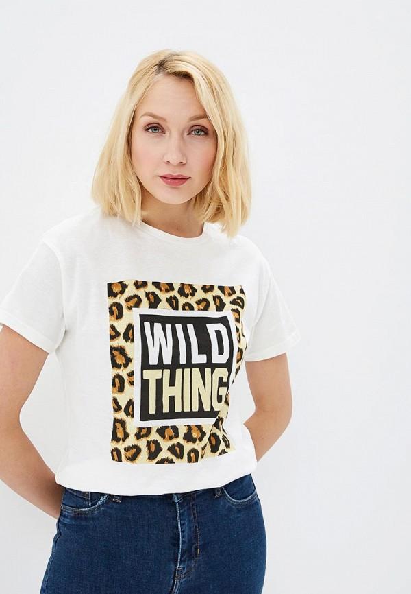 Купить Женскую футболку Pink Woman белого цвета
