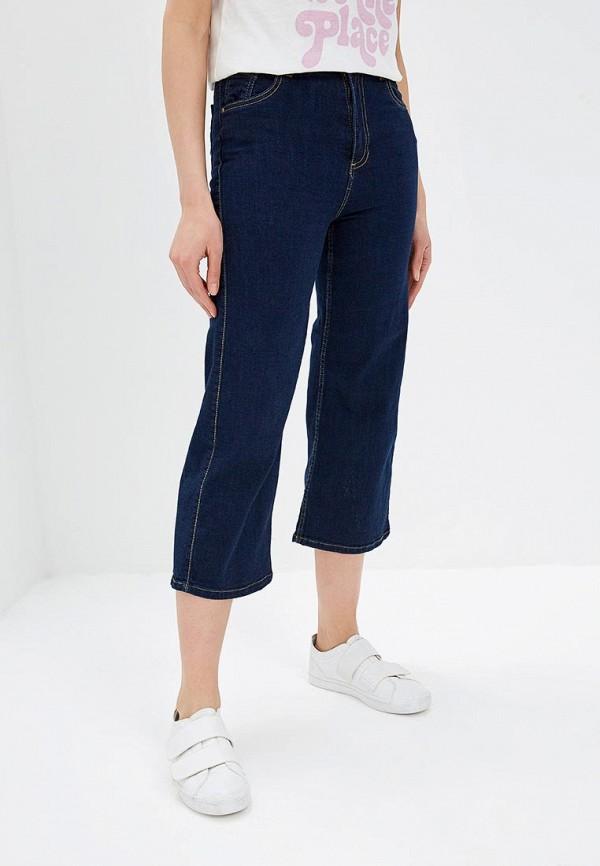женские джинсы клеш pink woman, синие