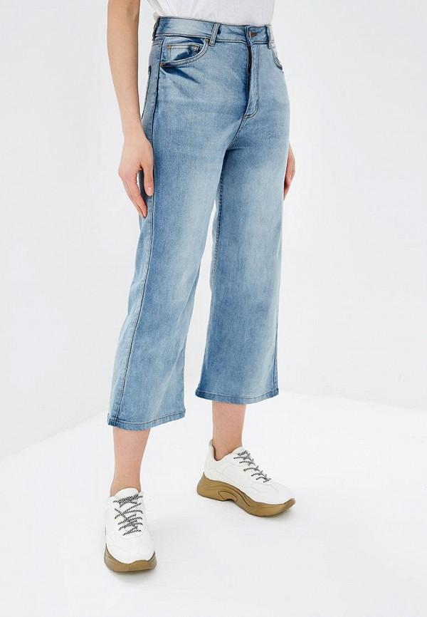 женские джинсы клеш pink woman, голубые