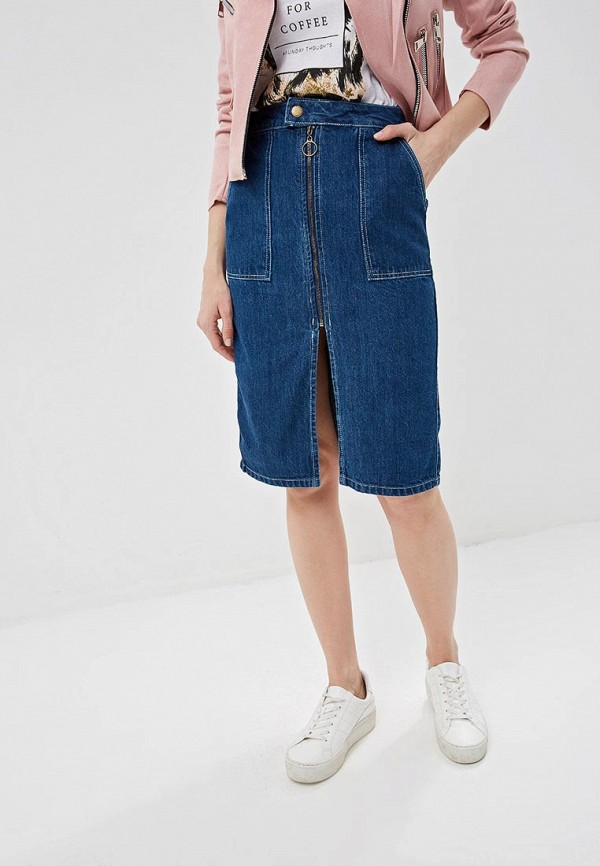 Юбка джинсовая Pink Woman Pink Woman PI026EWFBIJ8 цены онлайн