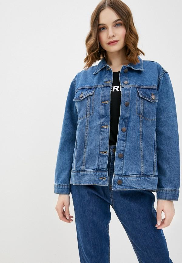женская джинсовые куртка pink woman, синяя