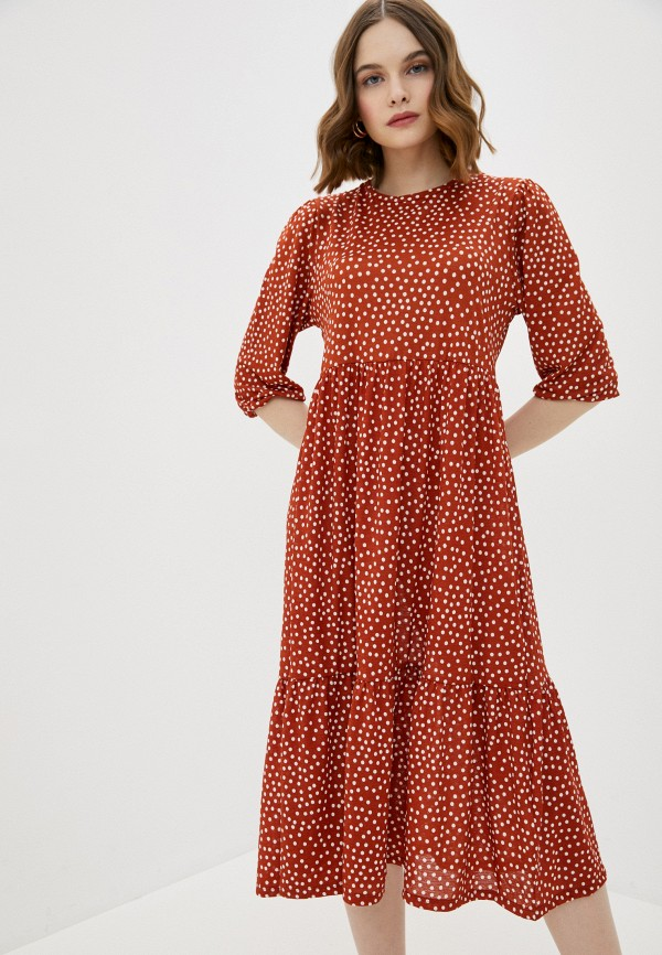 женское повседневные платье pink woman, красное